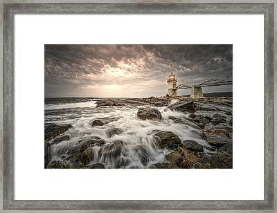 Framed Print featuring the photograph Marshal Point Lighthouse by Thomas Gaitley