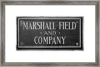 Marshall Field Plaque Framed Print by Steve Gadomski