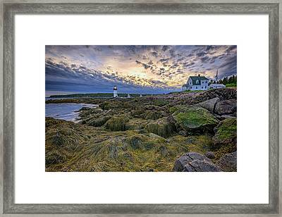 Marshall Point At Dusk Framed Print