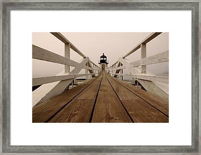 Marshall Point Fog Framed Print