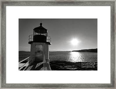 Marshall Point Light House At Sunset Framed Print