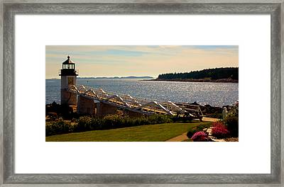Marshall Point Light, Panorama Framed Print by Robert McCulloch