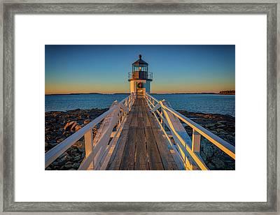 Marshall Point Light Station Framed Print