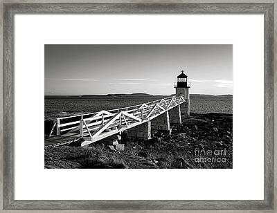 Marshall Point Lighthouse In Late Winter Afternoon Framed Print by Olivier Le Queinec