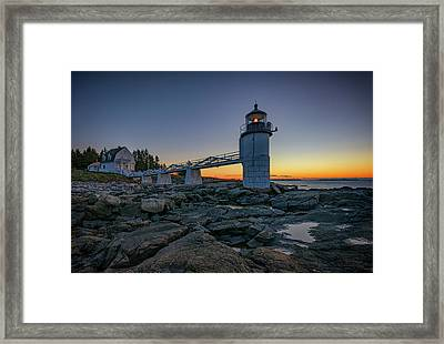 Marshall Point Lighthouse Framed Print by Rick Berk