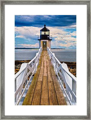 Marshall Point Lt. Framed Print