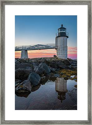 Marshall Point Reflection At Sunrise Framed Print