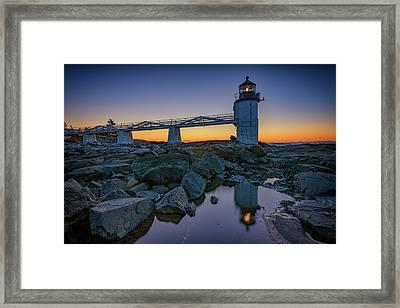Marshall Point Reflection Framed Print by Rick Berk