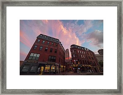 Marshall Street Sunset Boston Ma Framed Print