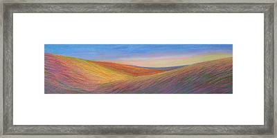 Marshall Sunset Framed Print by Lucinda  Hansen