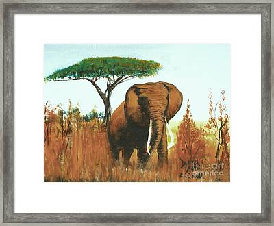 Framed Print featuring the painting Marsha's Elephant by Donna Dixon