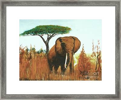 Marsha's Elephant Framed Print