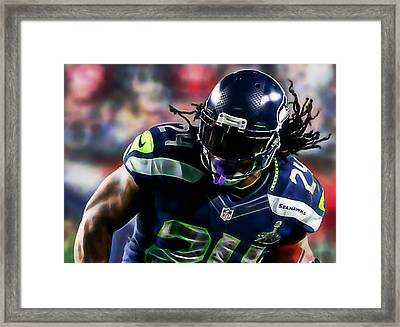 Marshawn Lynch Collection Framed Print by Marvin Blaine