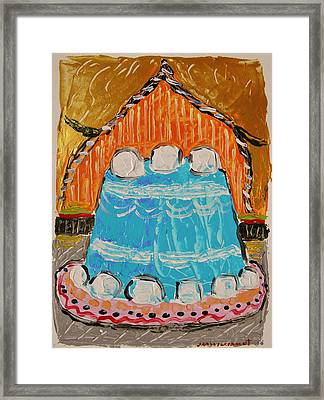 Marshmallow Cake Framed Print by John Williams