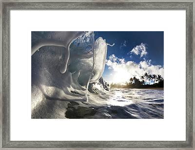 Marshmallow Melt Framed Print
