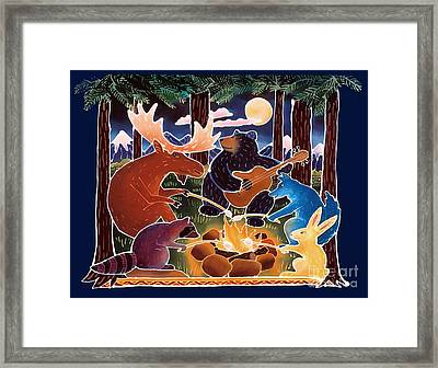 Marshmallow Roast Framed Print