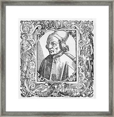 Marsilio Ficino, Italian Philosopher Framed Print by Middle Temple Library