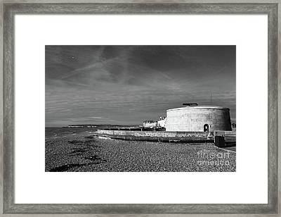 Martello Tower Number 74 Seaford Sussex Framed Print