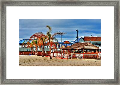 Martells On The Beach - Jersey Shore Framed Print by Angie Tirado