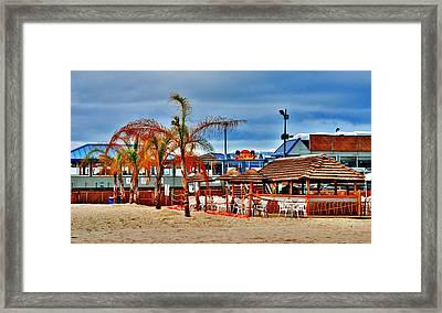 Martells On The Beach - Jersey Shore Framed Print
