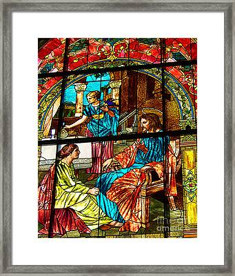 Martha And Mary Framed Print by Diane E Berry
