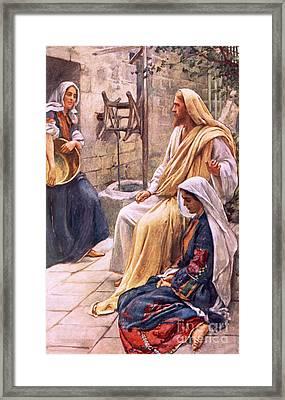 Martha And Mary Framed Print