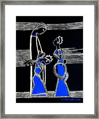 Martha And Mary Of Bethany Framed Print by Gloria Ssali