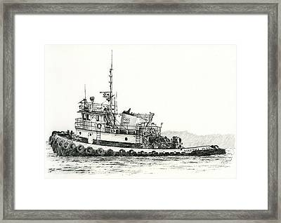 Martha Foss Near Shore Framed Print