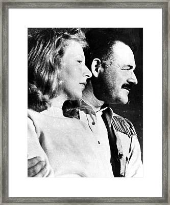 Martha Gellhorn And Ernest Hemingway Framed Print