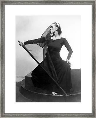 Martha Graham In Her Tragic Holiday Framed Print
