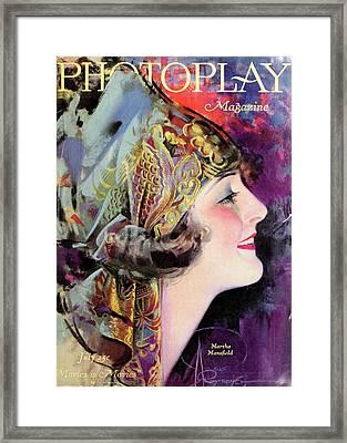 Martha Mansfield, Photoplay July 1920 Framed Print by Sarah Vernon