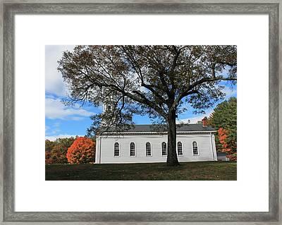 Martha Mary Chapel In Sudbury Ma 2 Framed Print by Michael Saunders