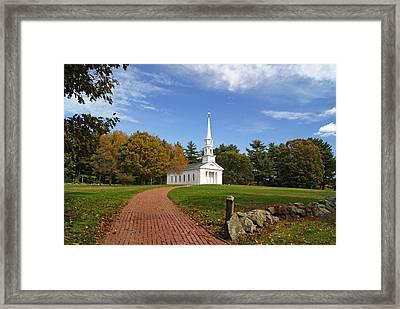 Martha Mary Chapel In Fall Framed Print by Sue Feldberg
