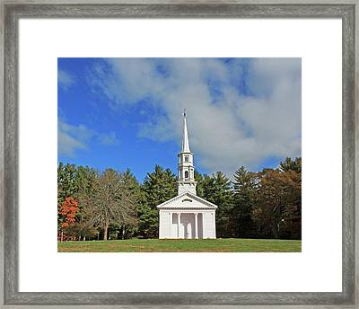 Martha Mary Chapel In Sudbury Ma Framed Print by Michael Saunders