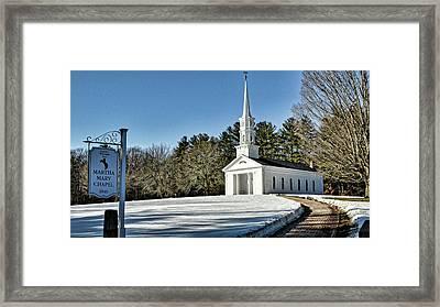 Martha Mary Chapel In Winter Framed Print by Bill Dussault