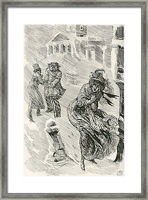 Martha The Wanderer. Illustration Framed Print