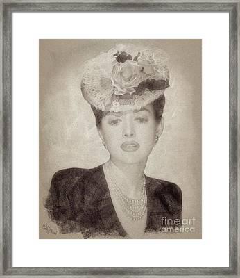 Martha Vickers, Vintage Actress Framed Print