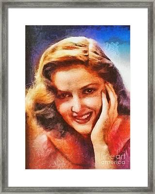 Martha Vickers, Vintage Hollywood Actress Framed Print