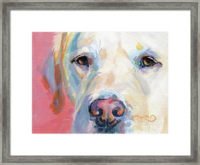 Martha's Pink Nose Framed Print by Kimberly Santini
