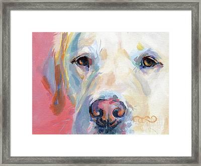Martha's Pink Nose Framed Print
