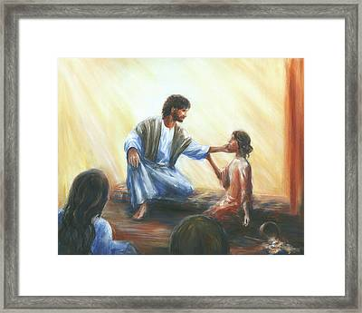 Martha's Repentance Framed Print