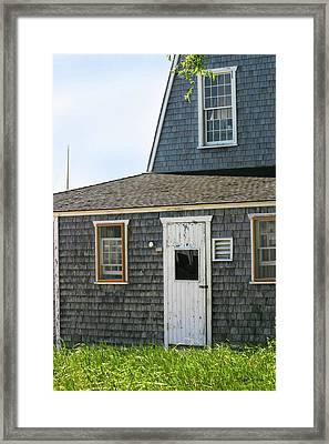 Marthas Vineyard Beach House Framed Print by Michelle Wiarda