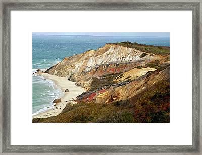 Marthas Vinyard Ocean Cliff Framed Print