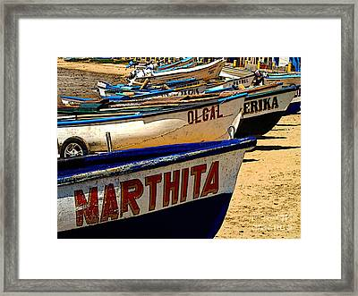 Marthita Ol Gal And Erika Framed Print by Mexicolors Art Photography