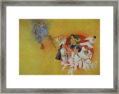 Framed Print featuring the painting Martial Arts by Cliff Spohn