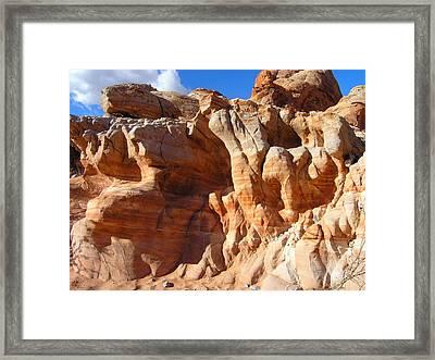 Martian Cliffs Framed Print by Silvie Kendall