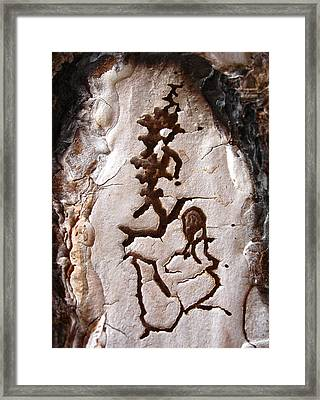 Martian Dance - Tree Bark Art Framed Print