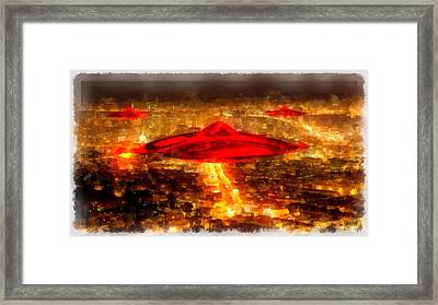 Martian Invasion Framed Print by Esoterica Art Agency