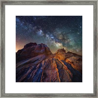 Martian Landscape Framed Print by Darren White