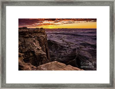 Martian Landscape On Earth - Utah Framed Print by Gary Whitton